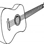 Just Guitar Coloring Page