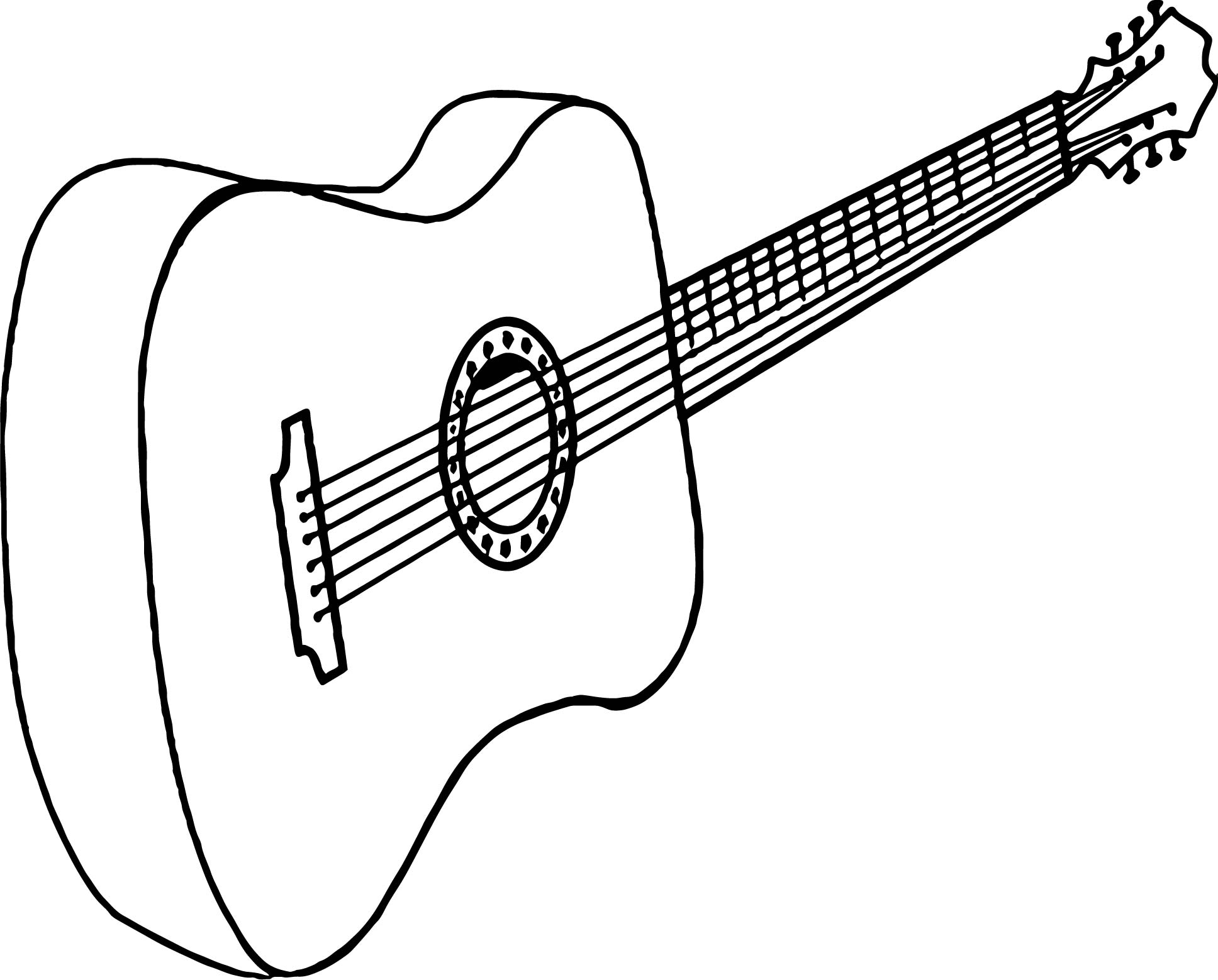 Just Guitar Coloring Page Wecoloringpage