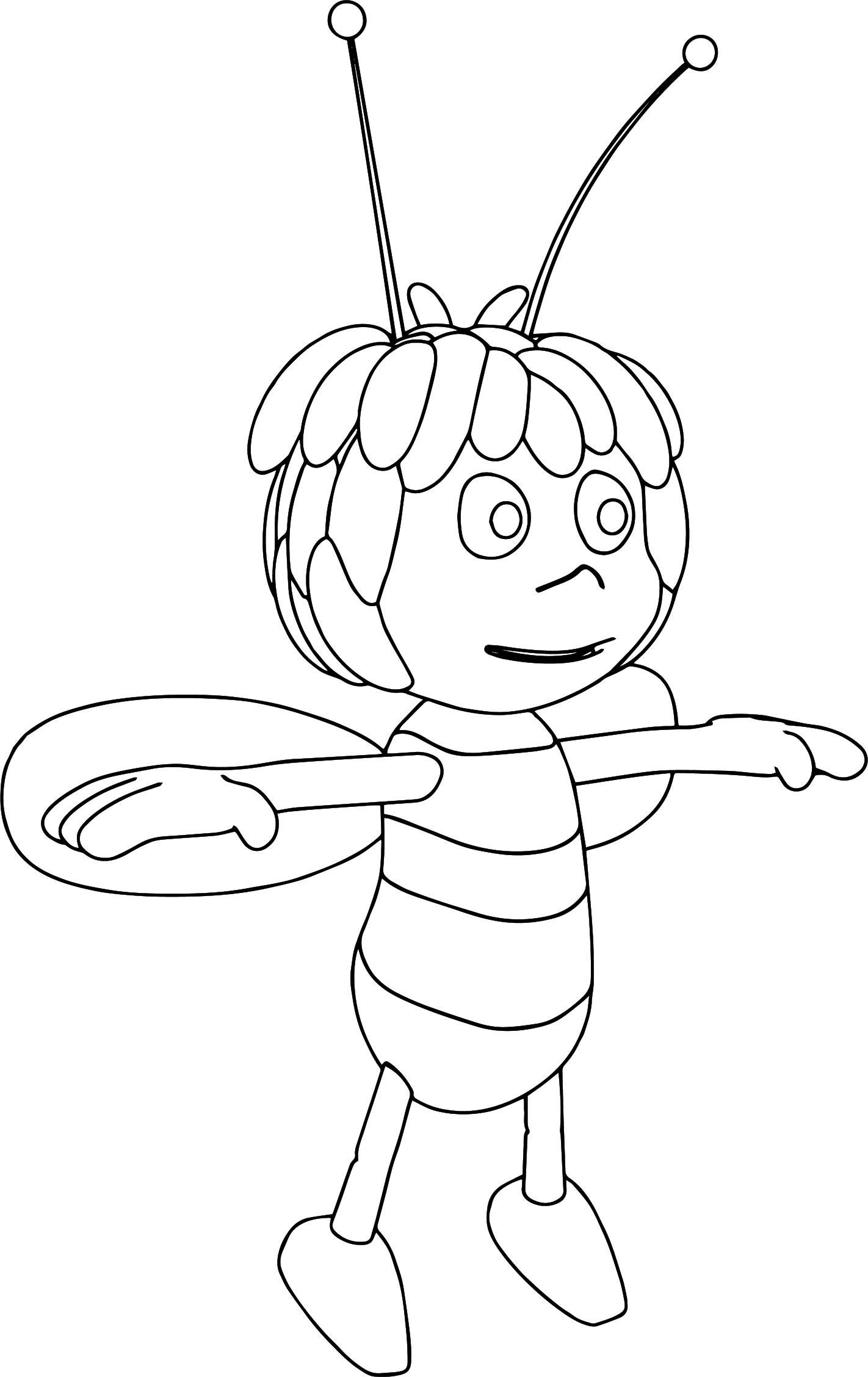 Just Maya Bee Coloring Page