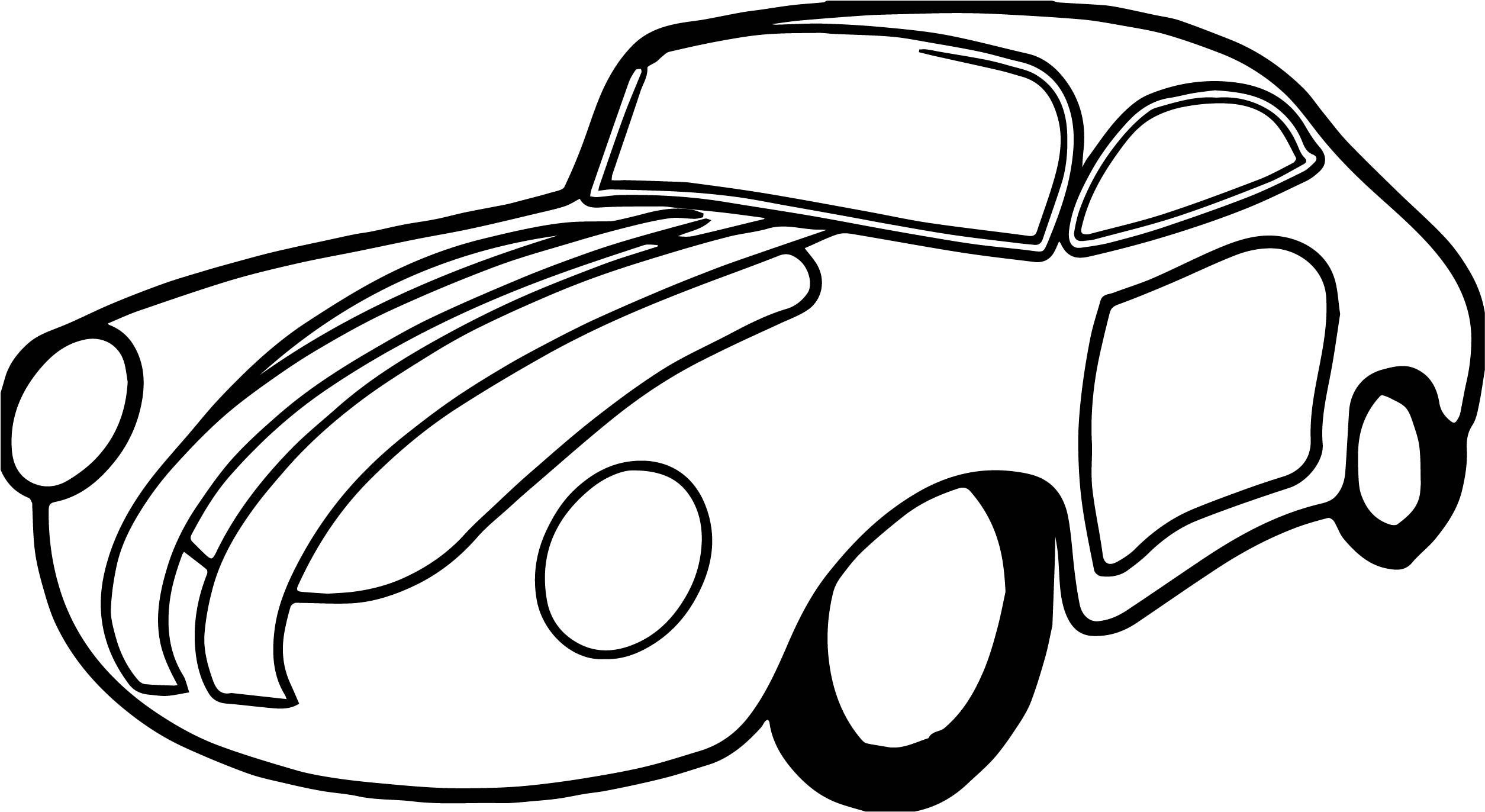Just Toy Car Coloring Page