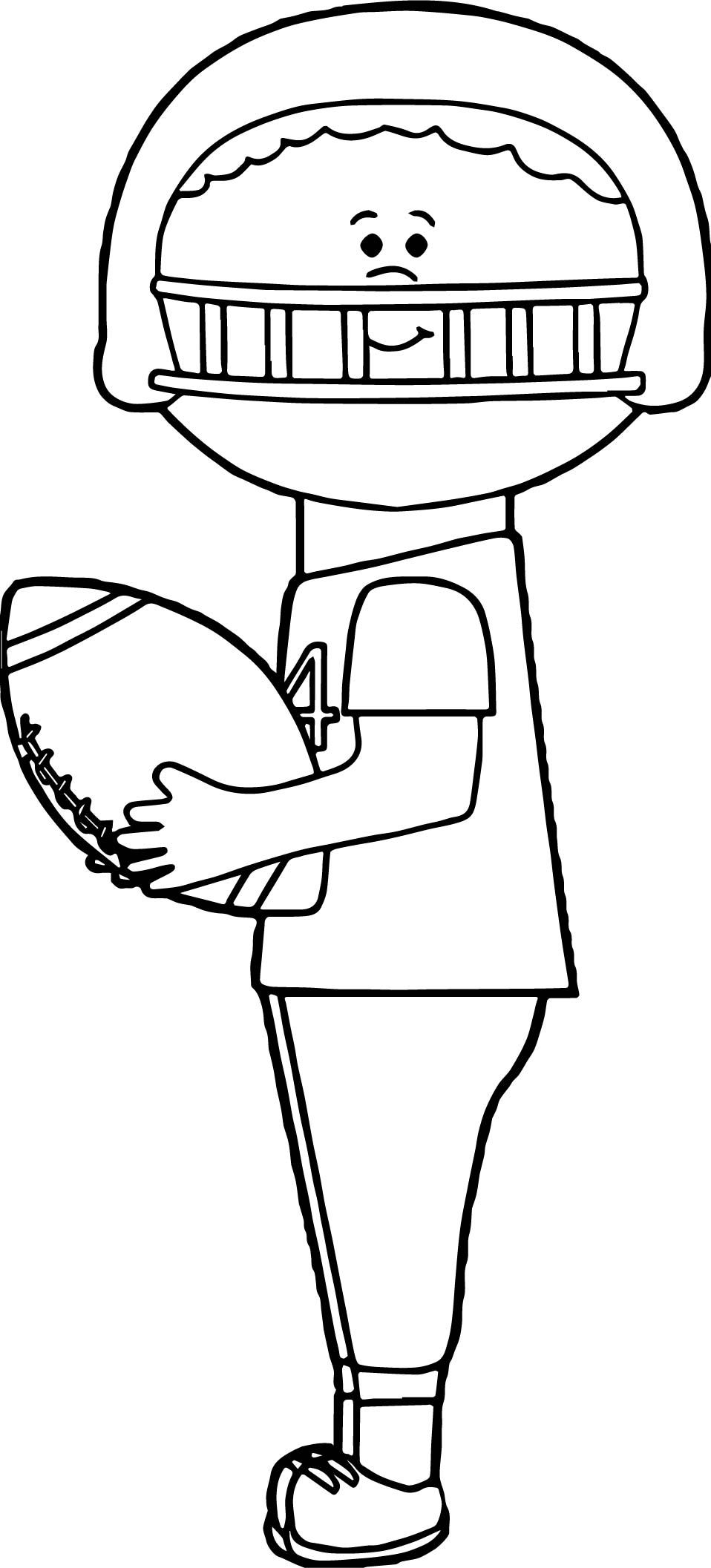 Kid Catching Playing Football Coloring Page