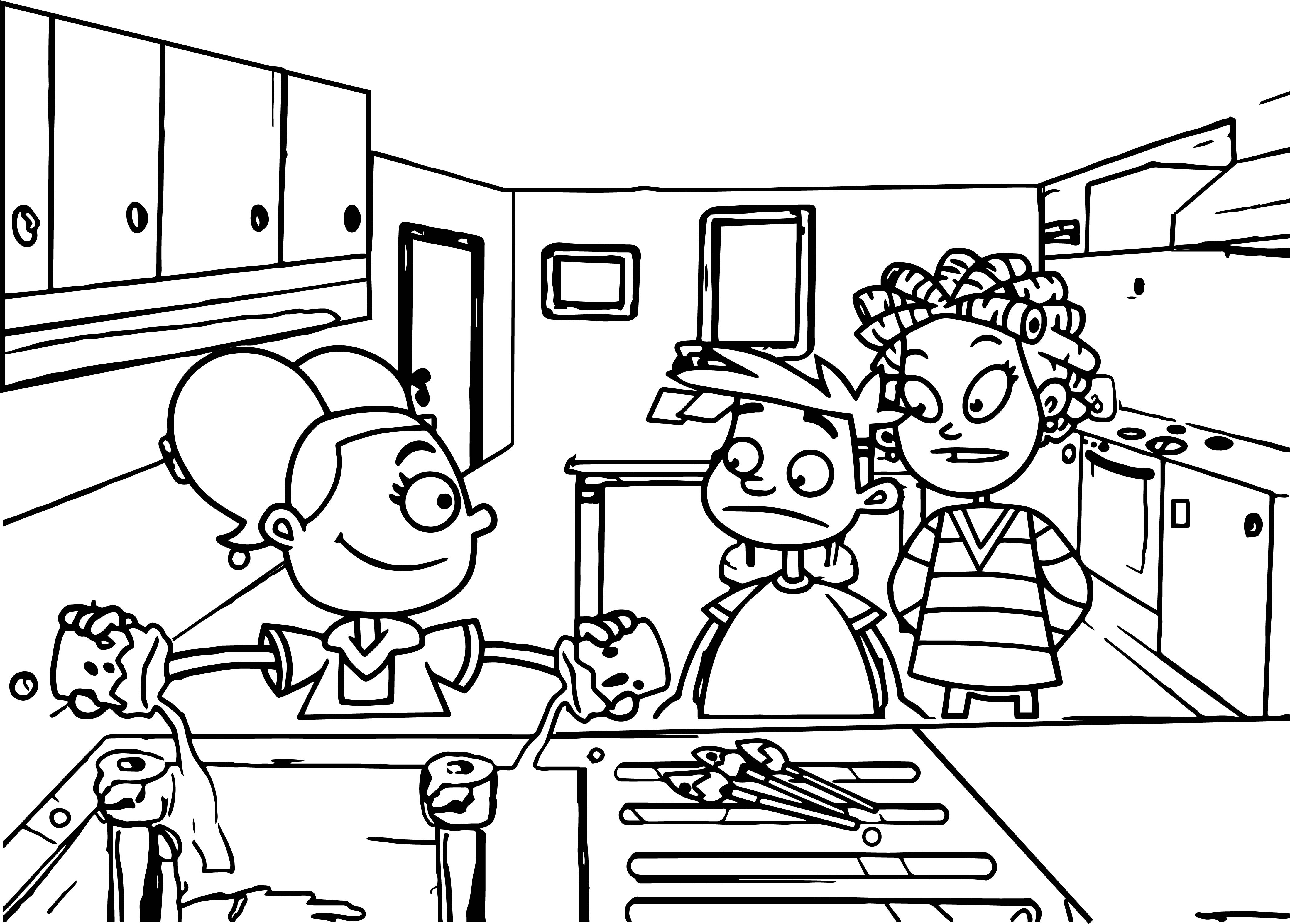 Kids And Water Coloring Page