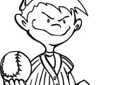 Kids Baseball Best Playing Baseball Coloring Page
