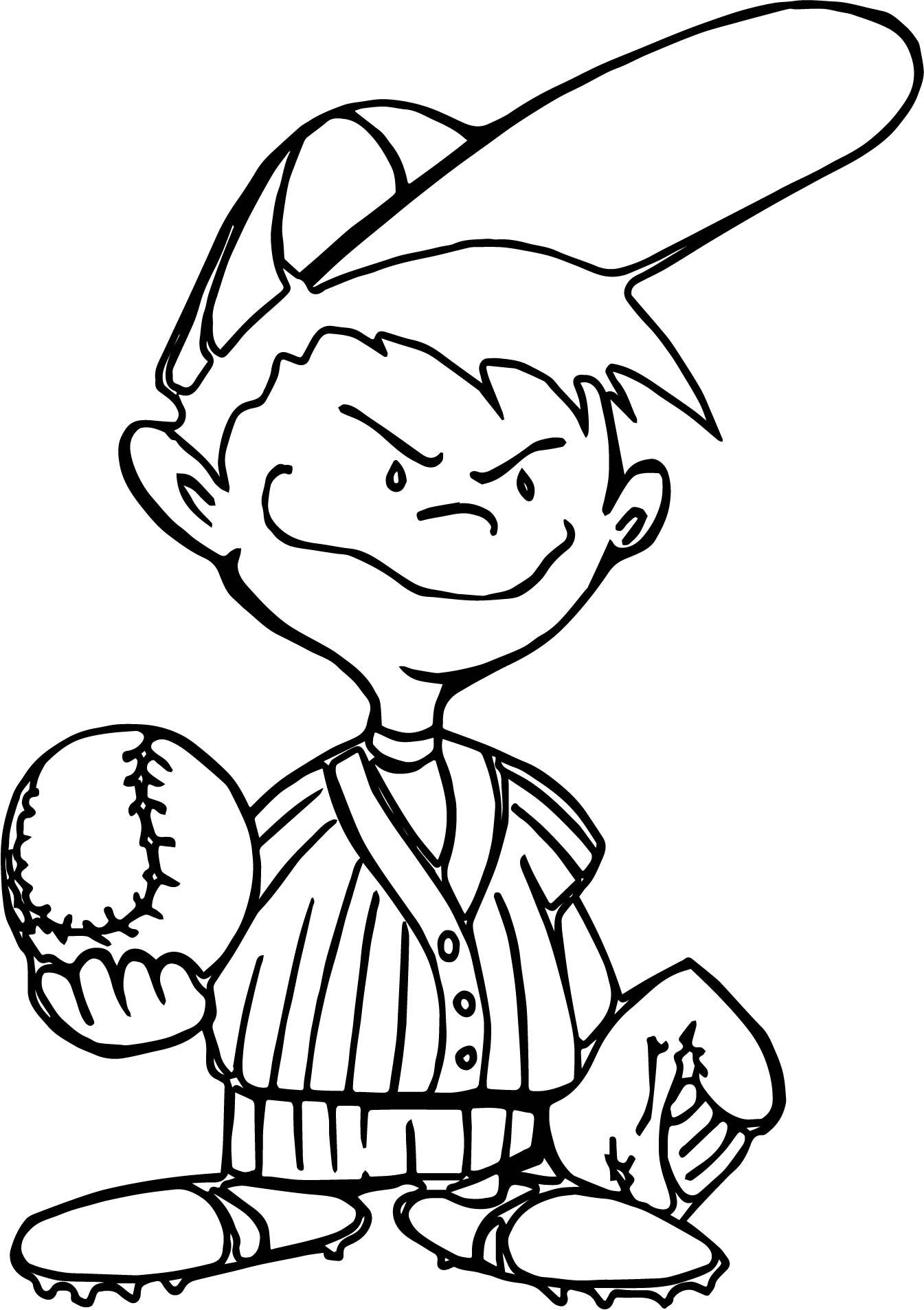 Kids Baseball Best Playing Baseball Coloring Page