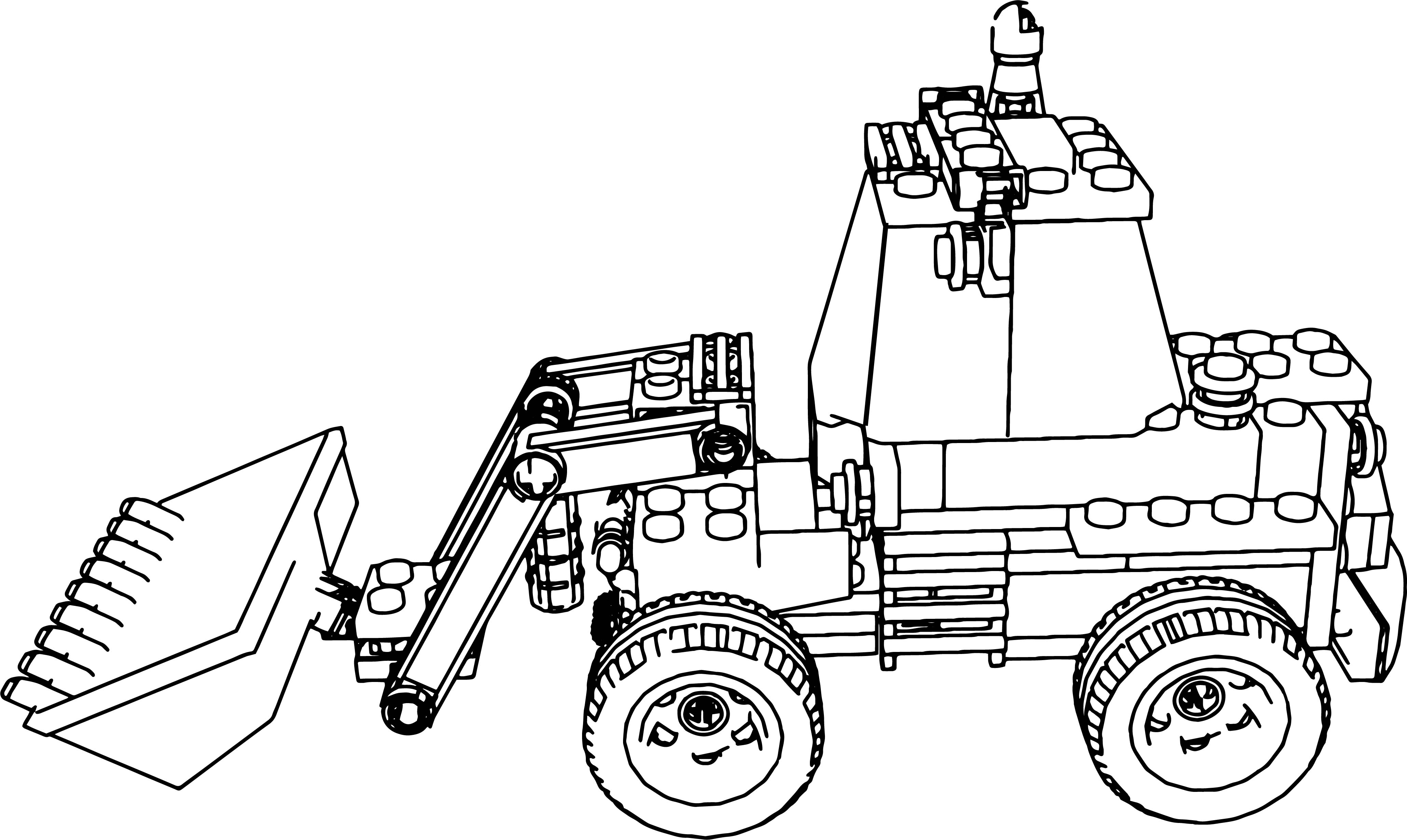 Lego Excavator Truck Coloring Page