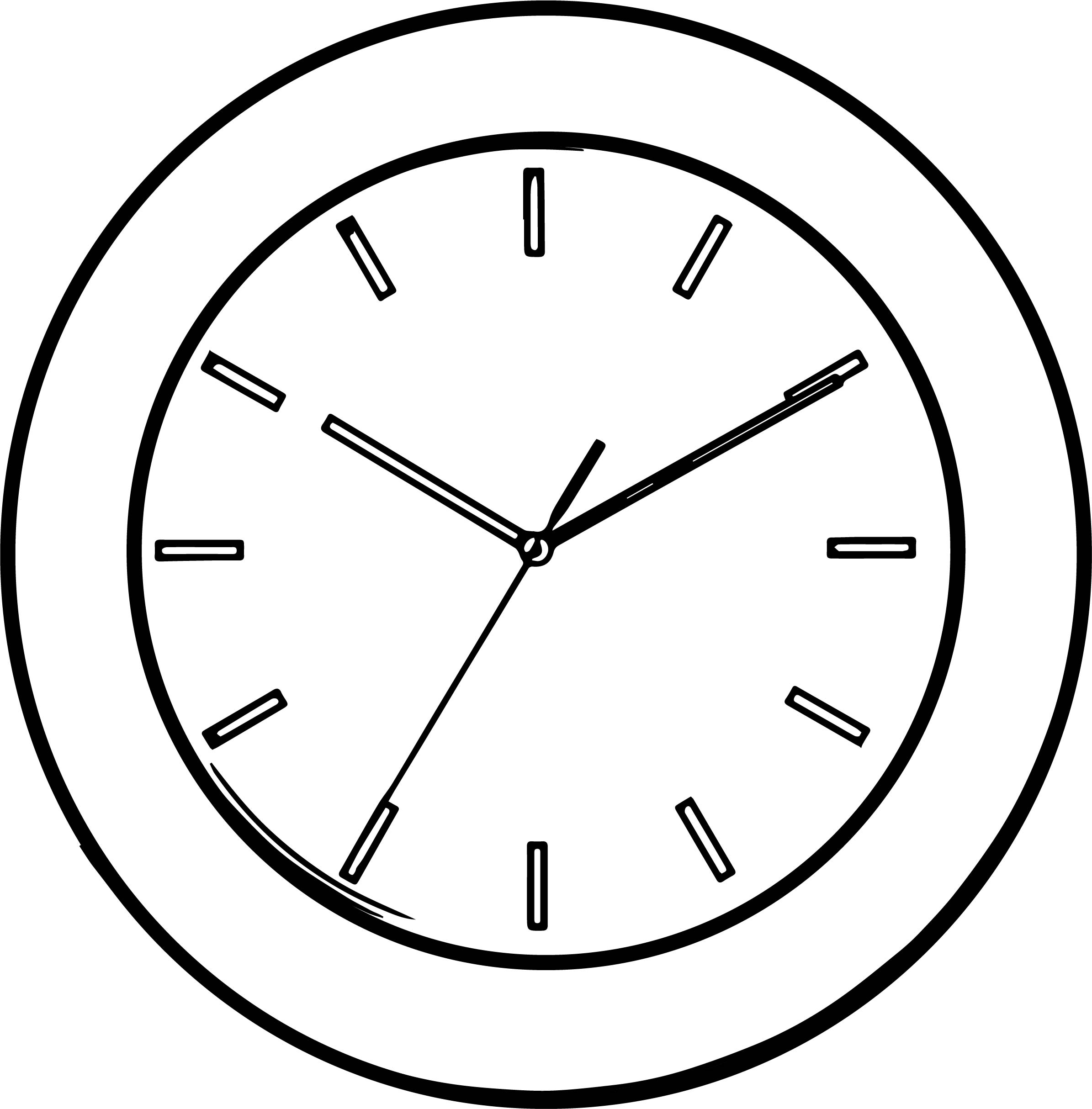 Line Clock Coloring Page