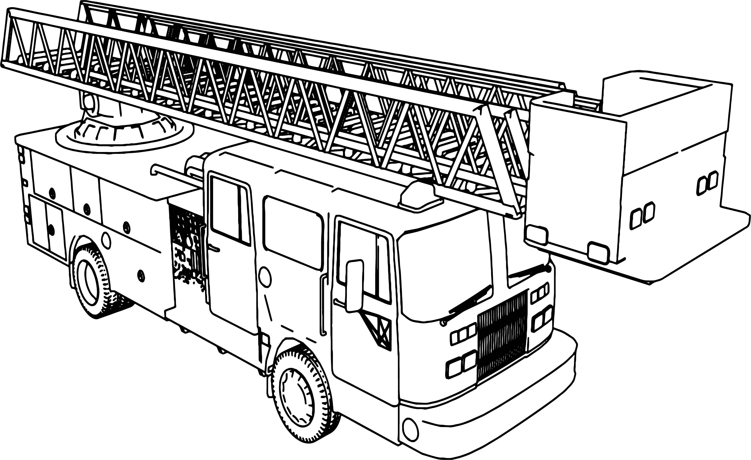 Fire Trucks Coloring Pages Page Truck To Color