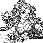 Marina Girl Coloring Page