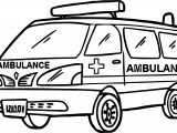 Max Ambulance Coloring Page