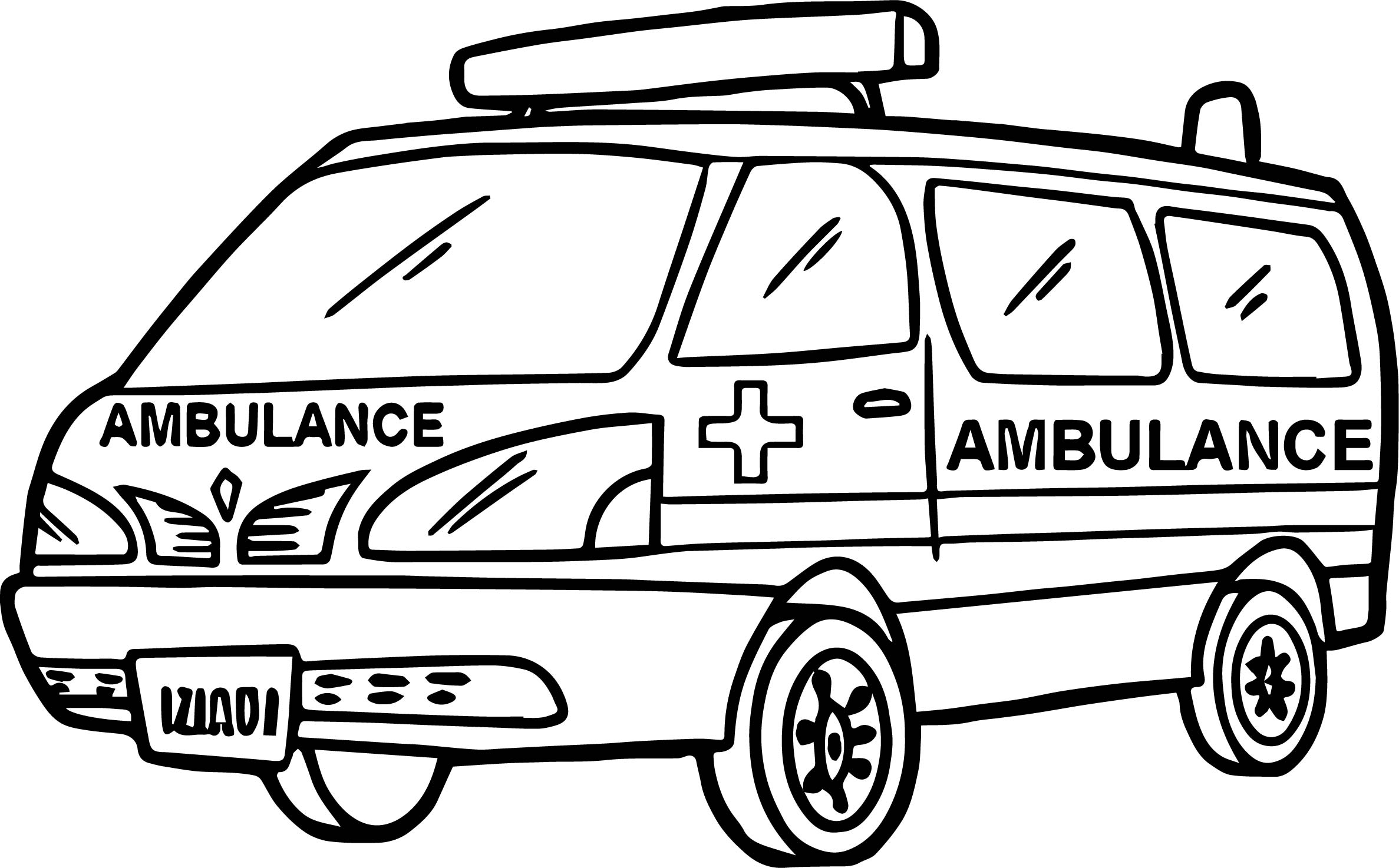 max ambulance coloring page wecoloringpage - Ambulance Pictures To Colour
