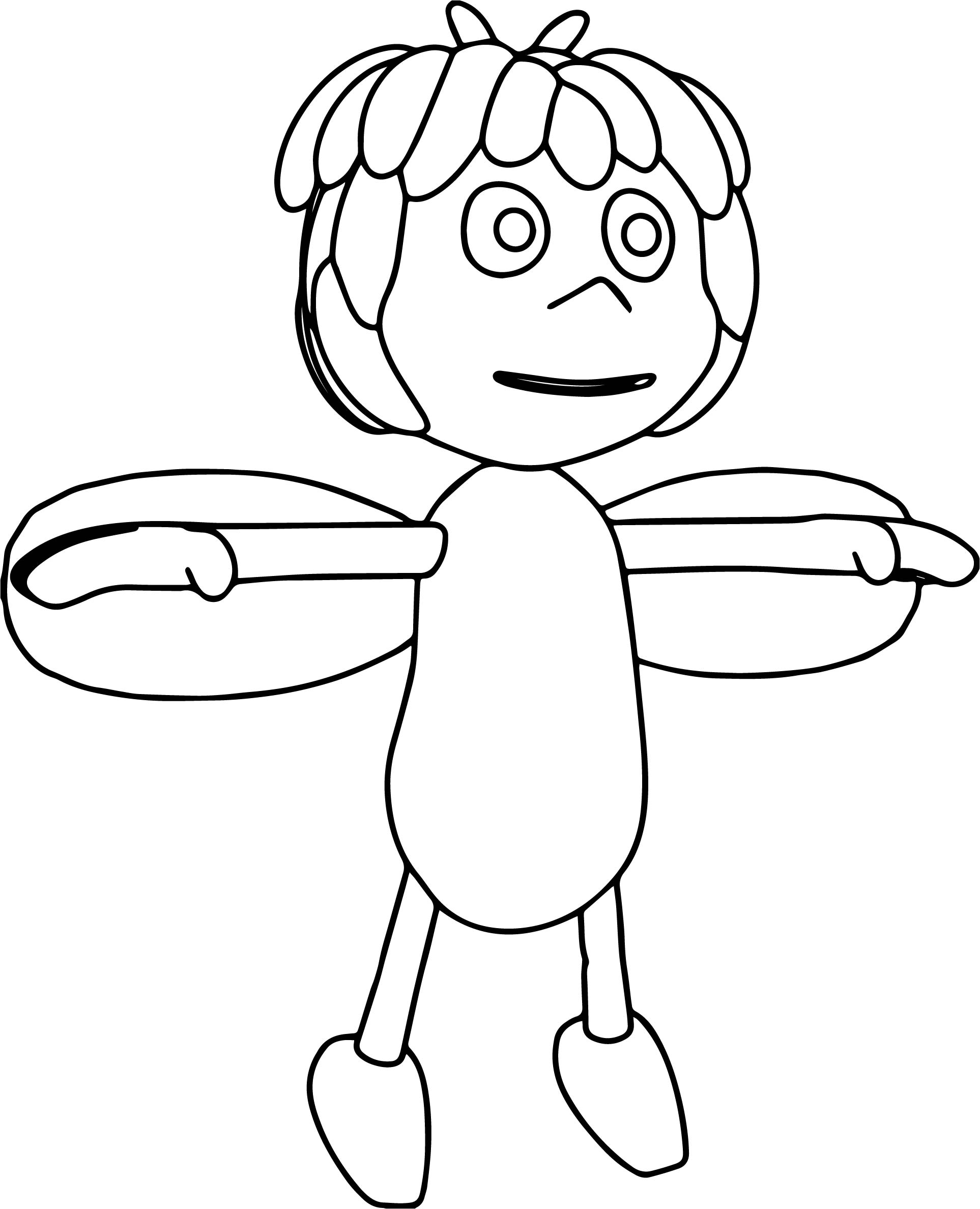 Maya Bee T Pose Coloring Pages