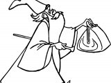 Merlin Archimedes Bag Coloring Page