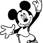 Mickey Playing Basketball Own Coloring Page