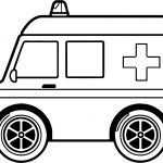 Midi Ambulance Coloring Page