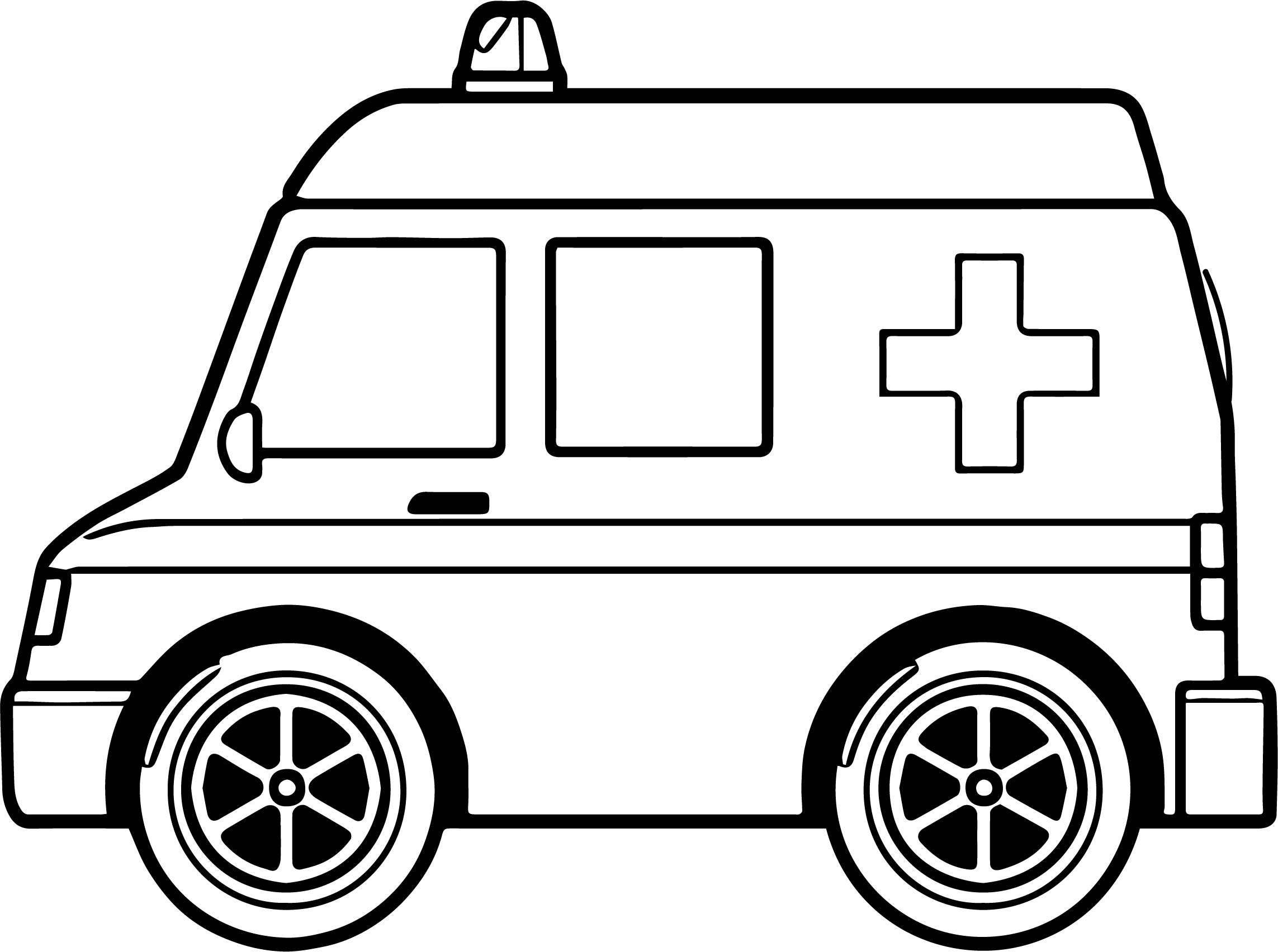 Midi Ambulance Coloring Page Wecoloringpage Ambulance Colouring Pages
