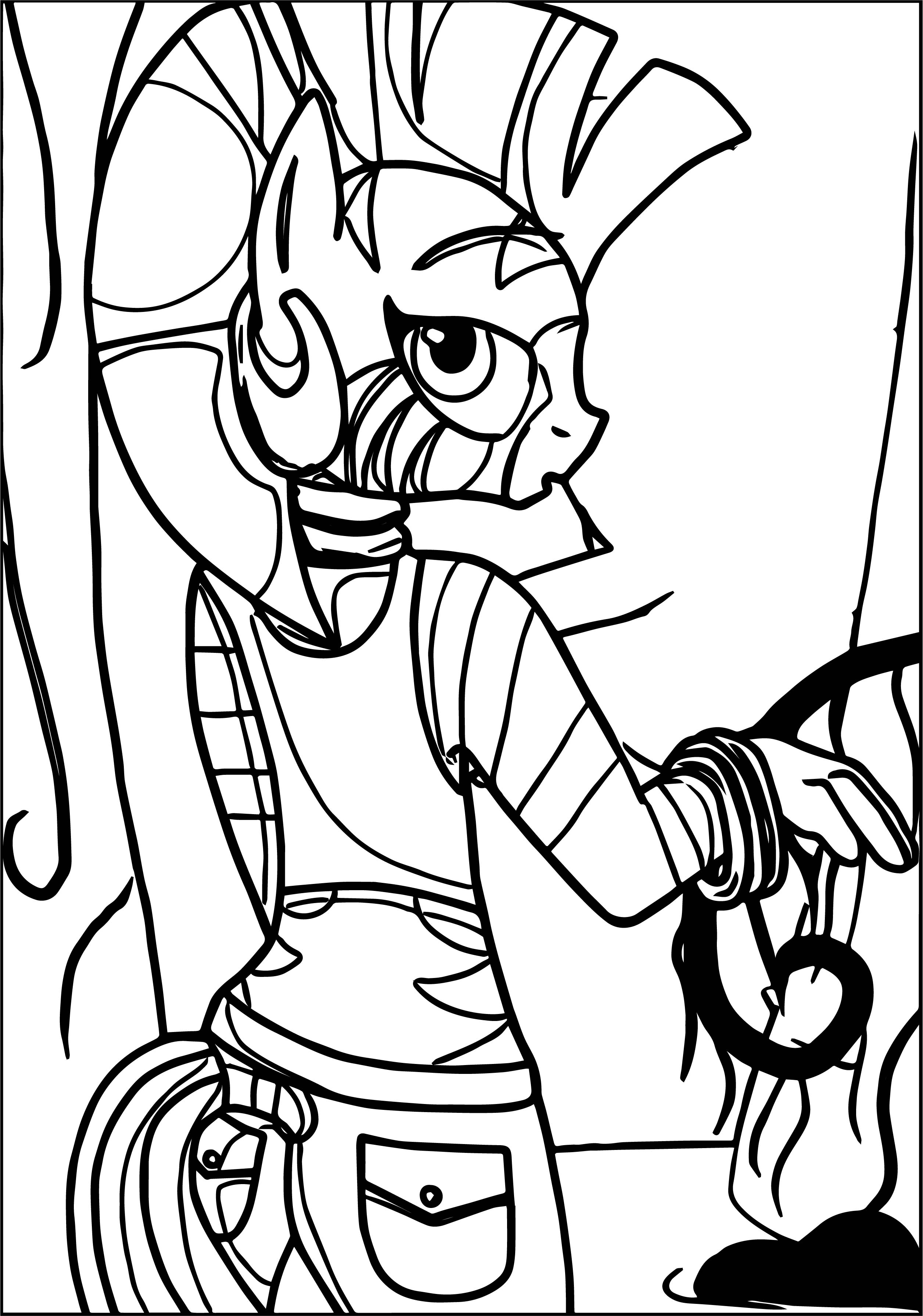 Modern Zecora In Everfree Forest Coloring Page