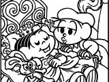 Monica The Beautiful Sleeping Collection Cotton Sweet Coloring Page