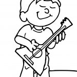 Music Guitar Playing The Guitar Coloring Page