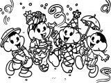 Musical Turma Da Monica Carnaval Coloring Page