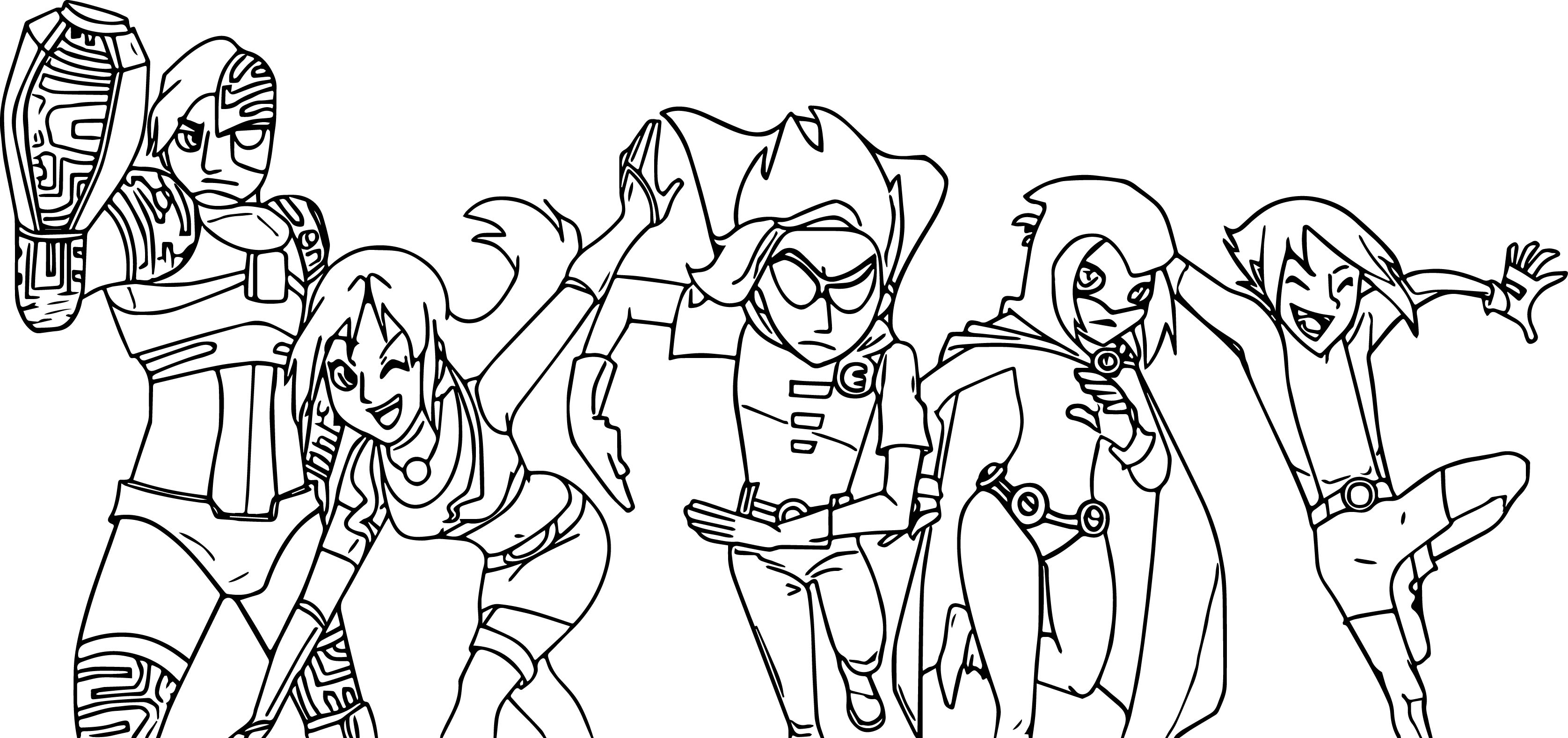 My Chars As Teen Titans Go Coloring Page