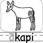 Okapi Abc Teach Coloring Page