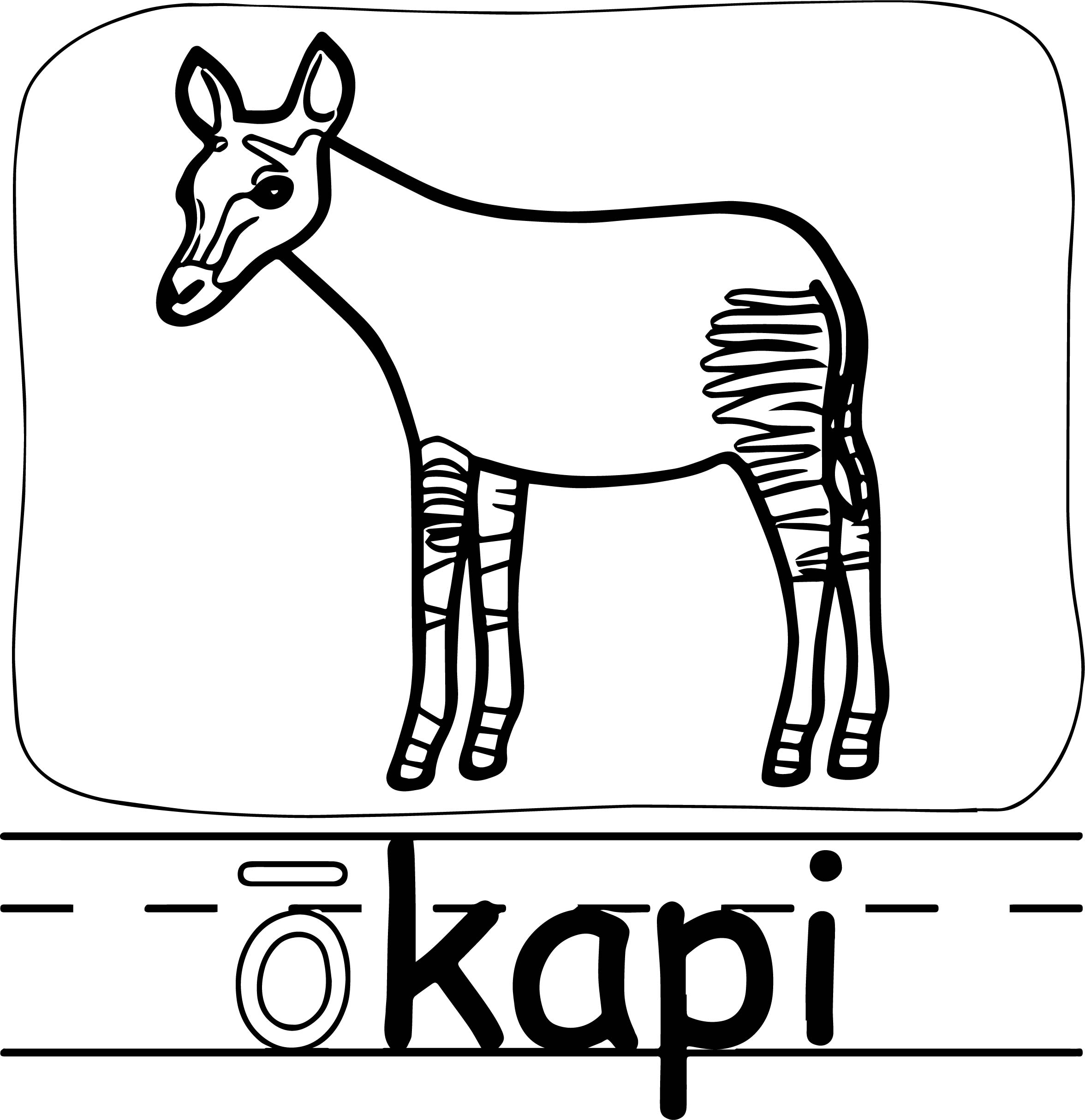Okapi page coloring pages for Okapi coloring page