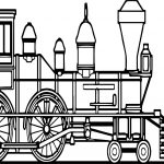Old Train Coloring Page
