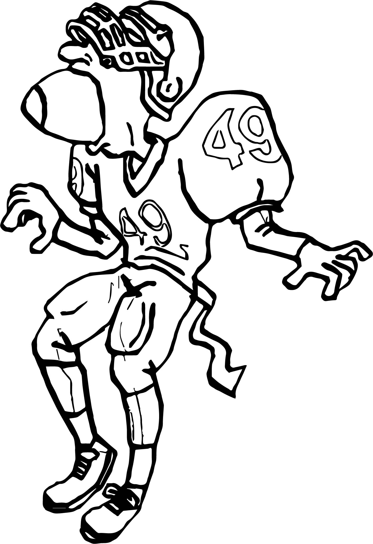 Omg Playing Football Coloring Page