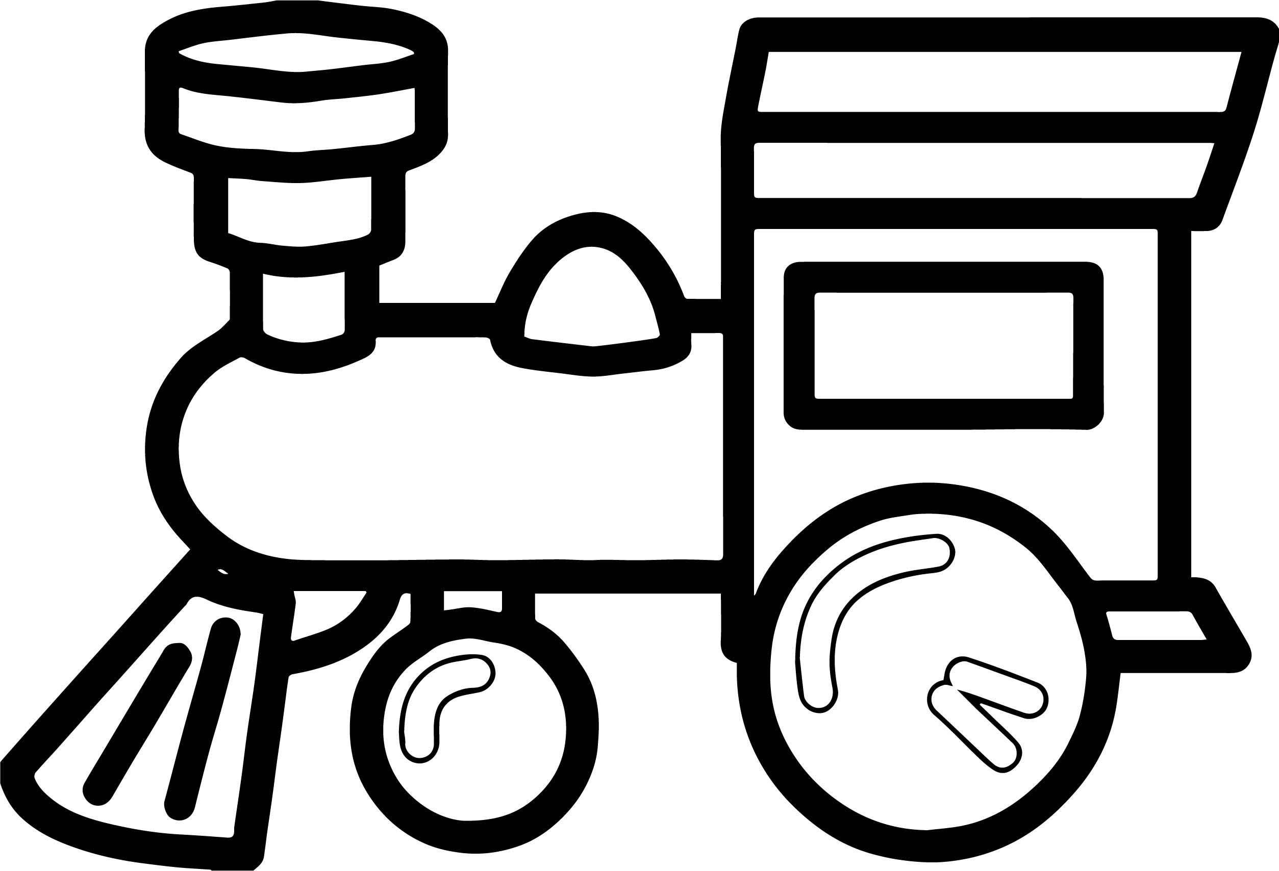 One Toy Train Coloring Page
