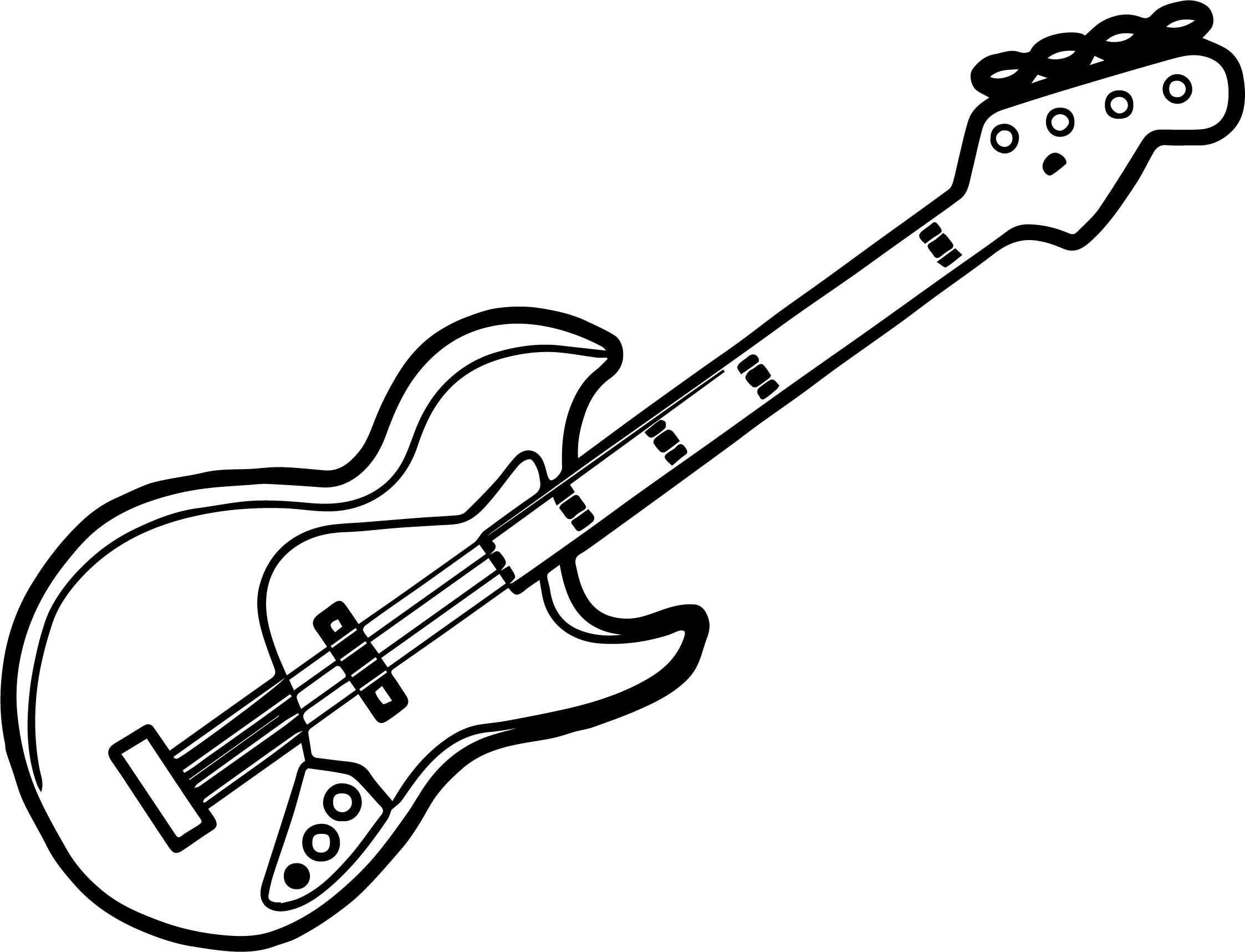 eletric guitar coloring pages - photo#20