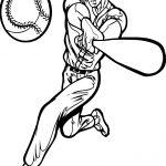 Perfect Playing Baseball Man Coloring Page
