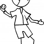 Pitcher Throwing A Baseball Playing Baseball Coloring Page