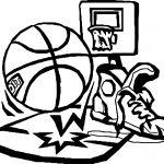 Playing Basketball Set Coloring Page
