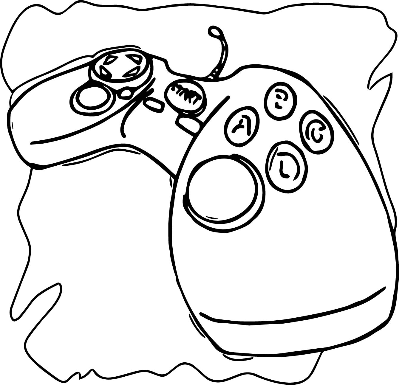 Playing Computer Games Big Joystick Coloring Page