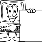 Playing Computer Games Look Blank Page Coloring Page