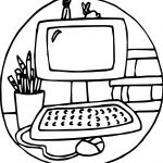 Playing Single Computer Games Coloring Page