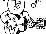 Playing The Guitar And Say Song Man Coloring Page