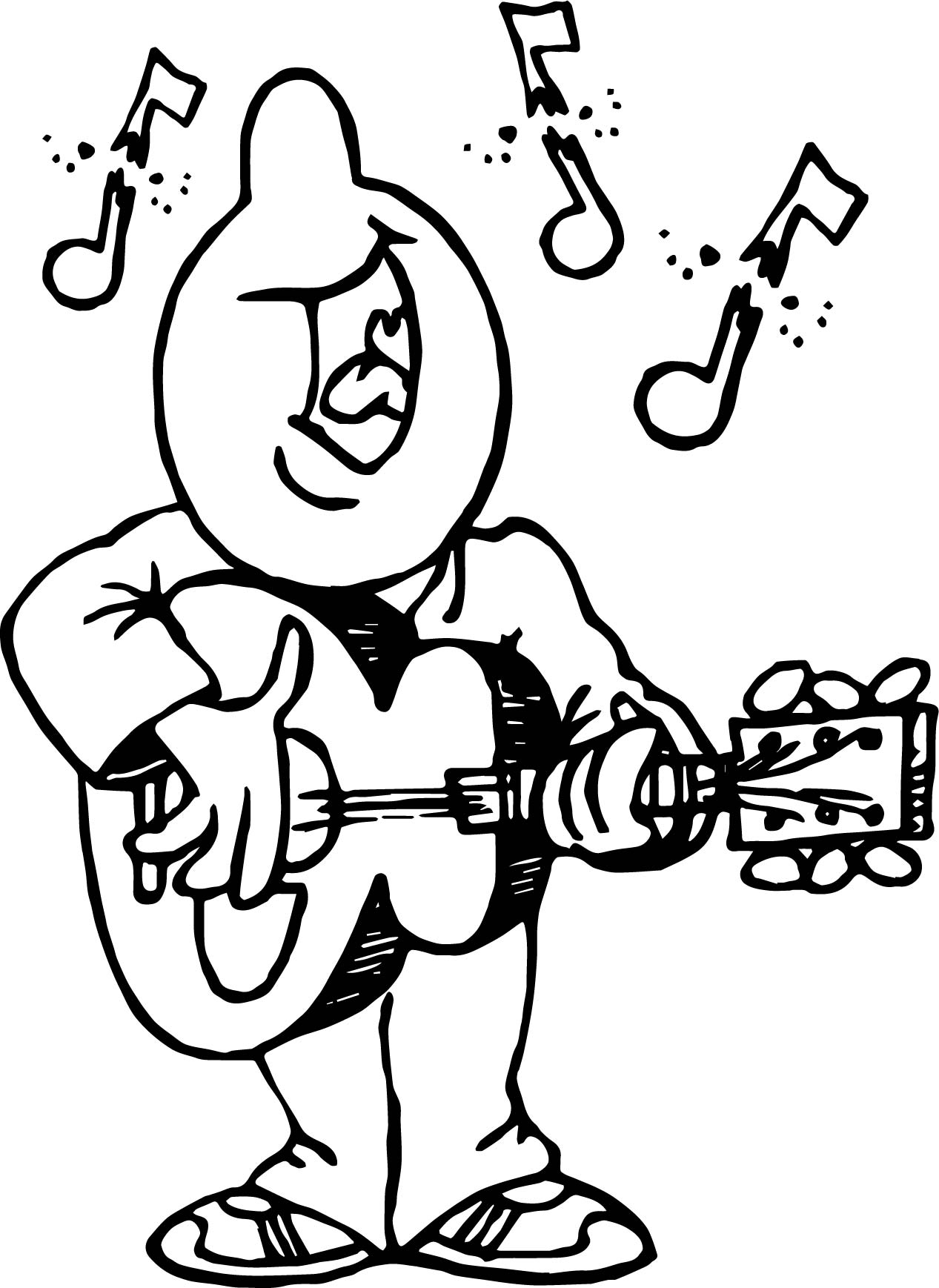 playing the guitar and say song man coloring page wecoloringpage