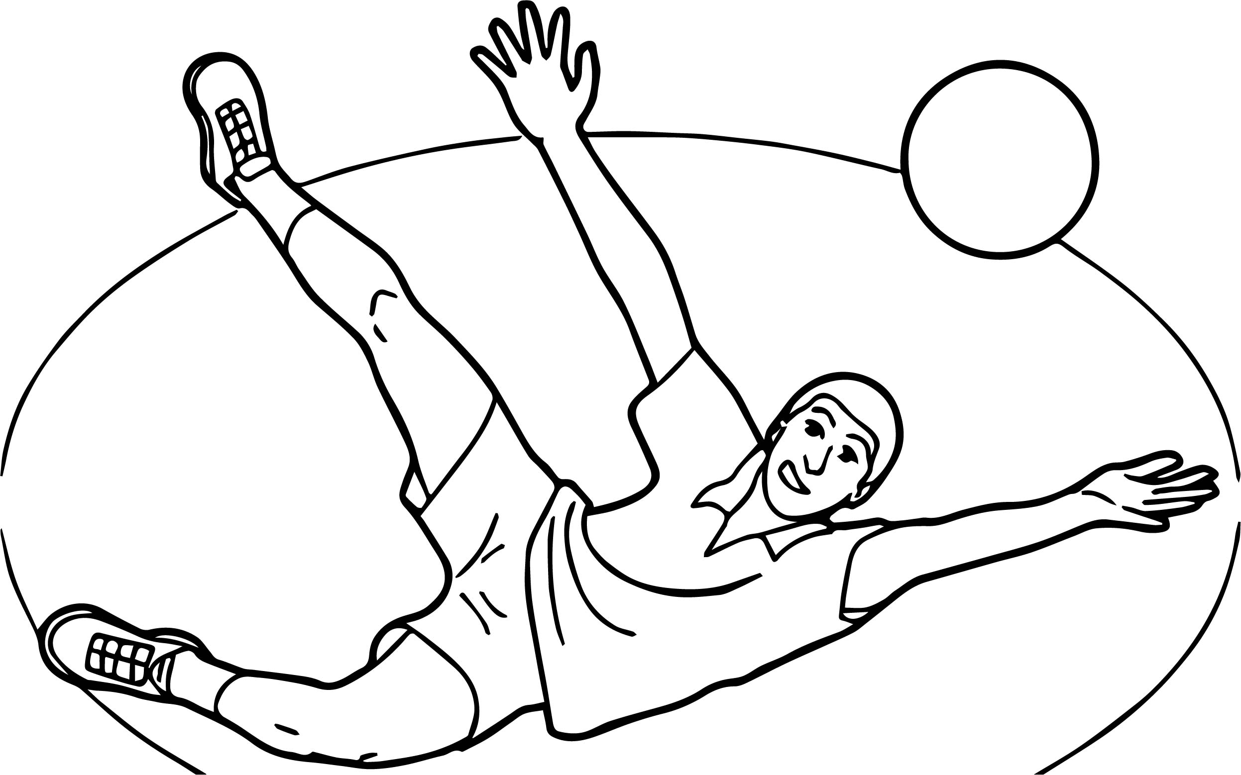 Playing Volleyball Coloring Page