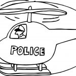 Police Helicopter Coloring Page