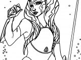 Power Ahsoka Tano Coloring Page