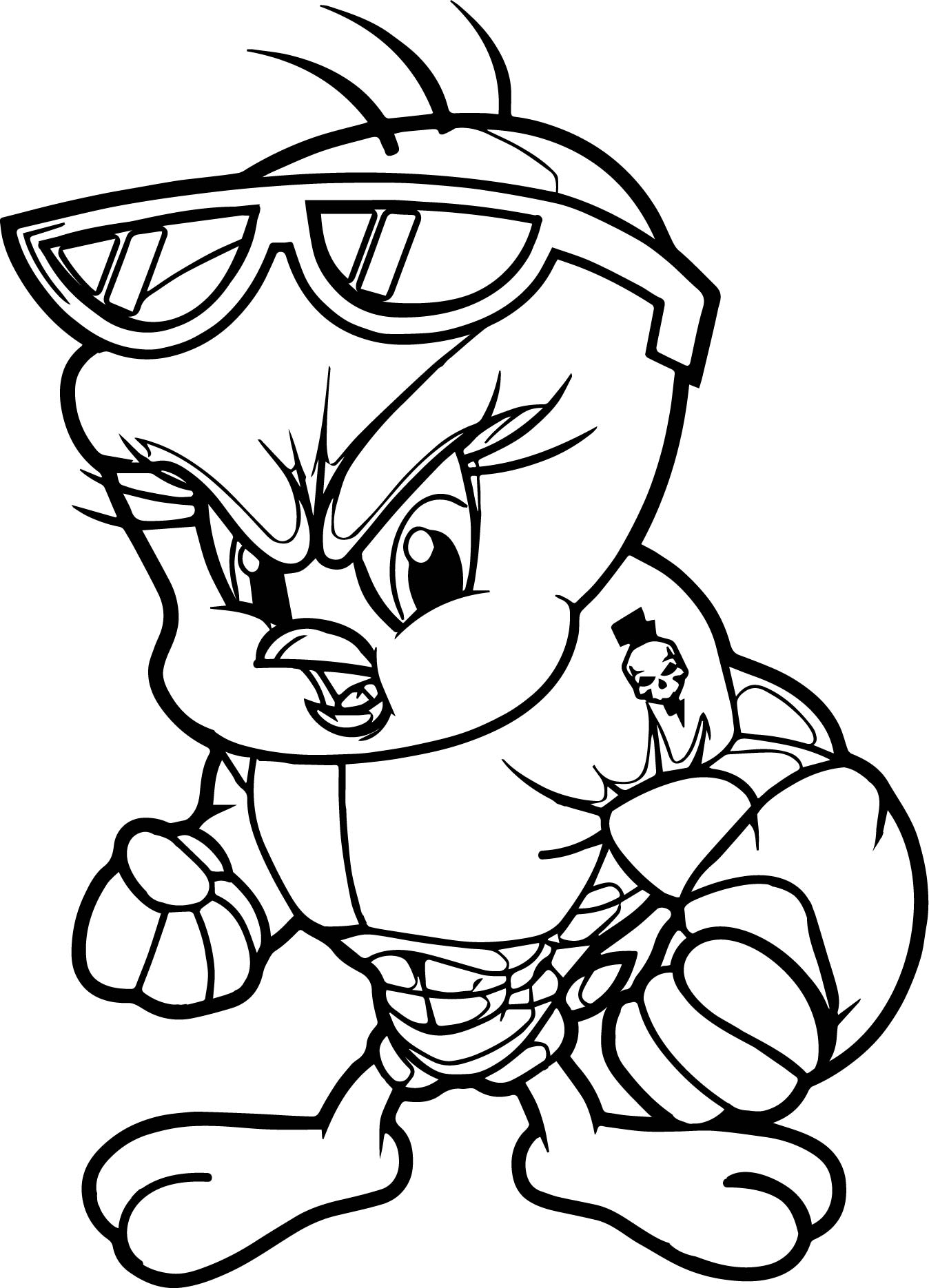 Power Tweety Coloring Page