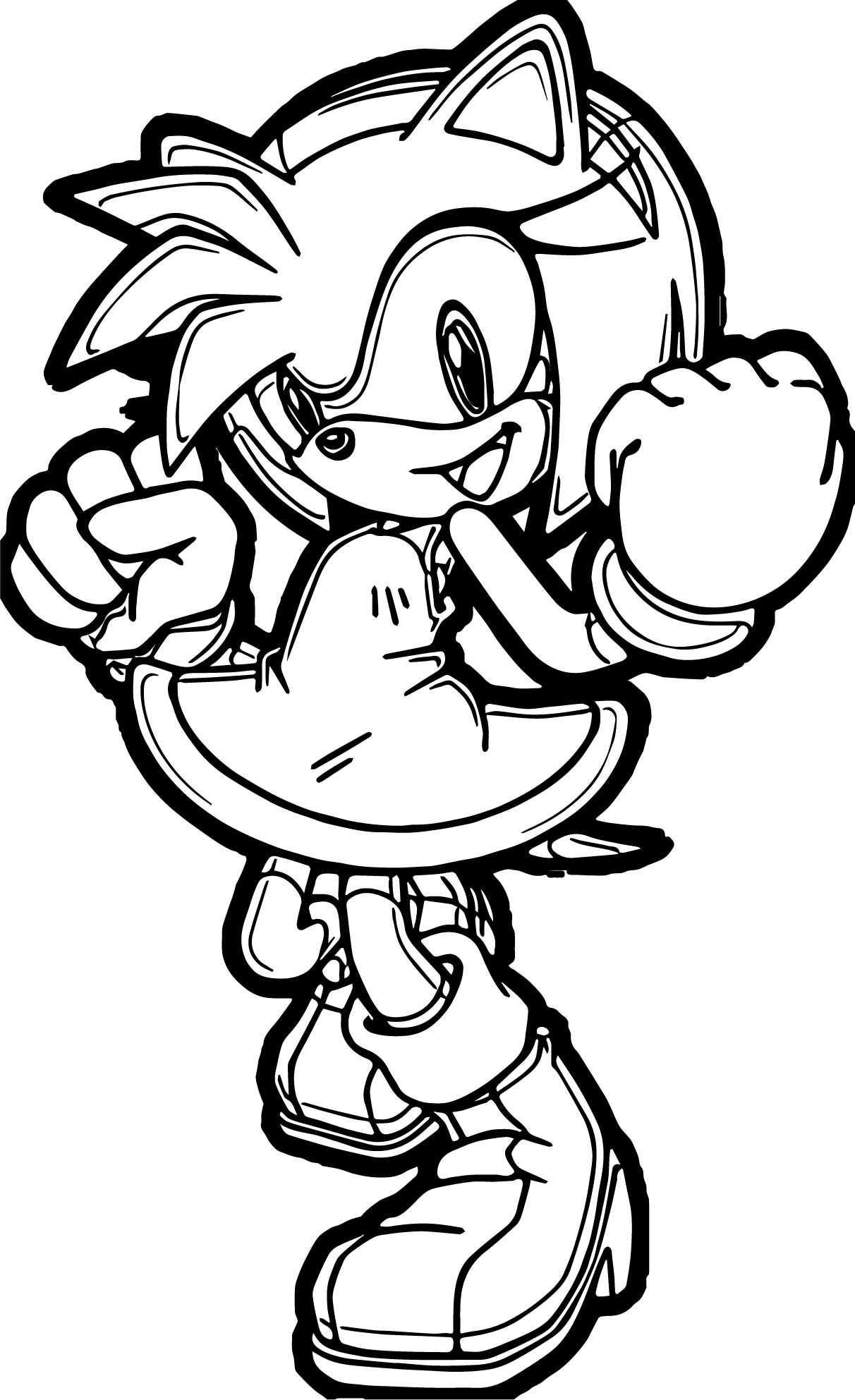 Powered Amy Rose Coloring Page