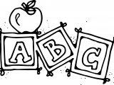 Preschool Abc Coloring Pages