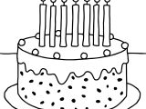 Preschool Birthday Cake Coloring Pages