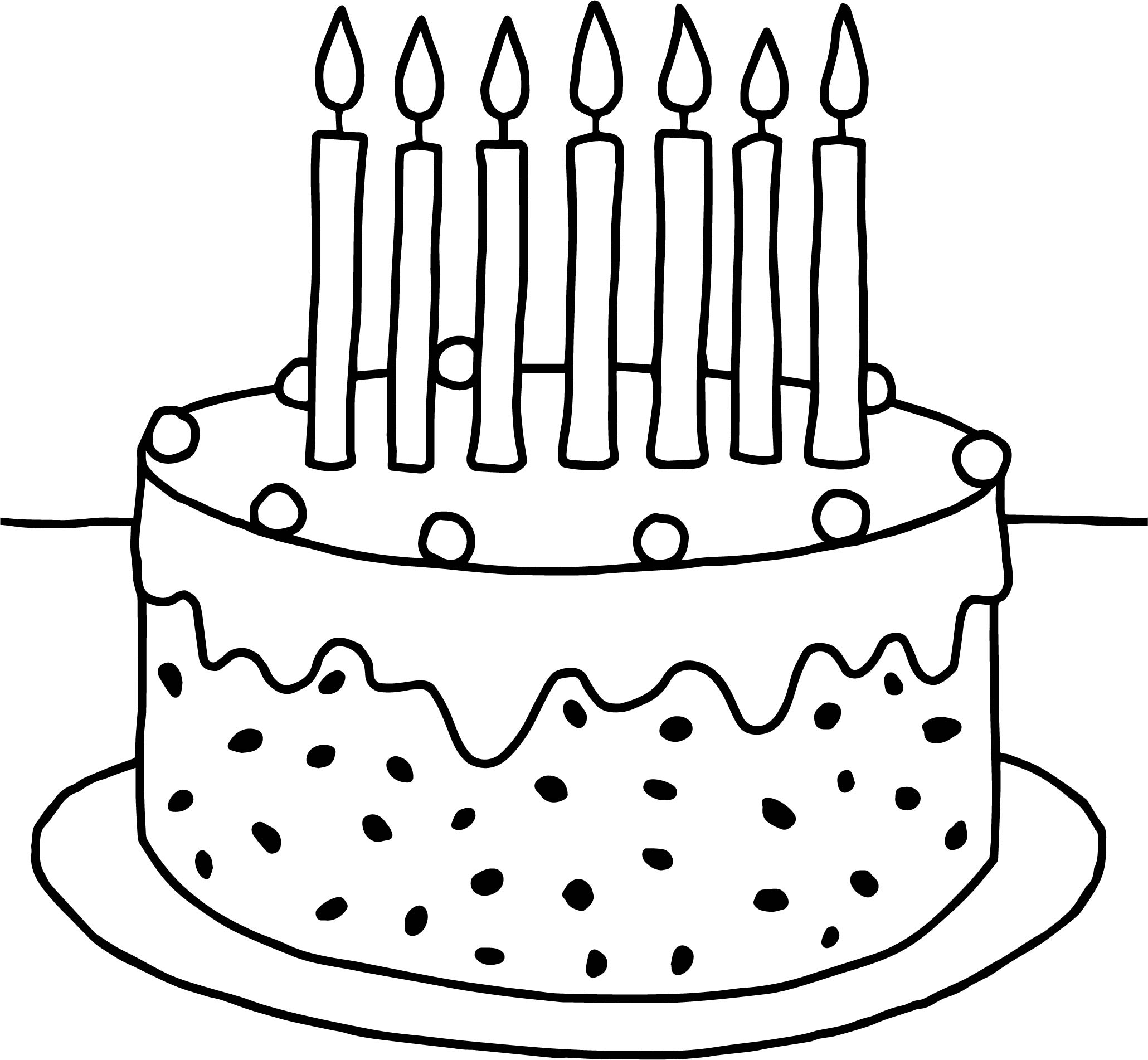 Preschool birthday cake coloring pages for Preschool coloring pages