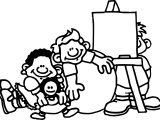 Preschool Coloring Page Sheet
