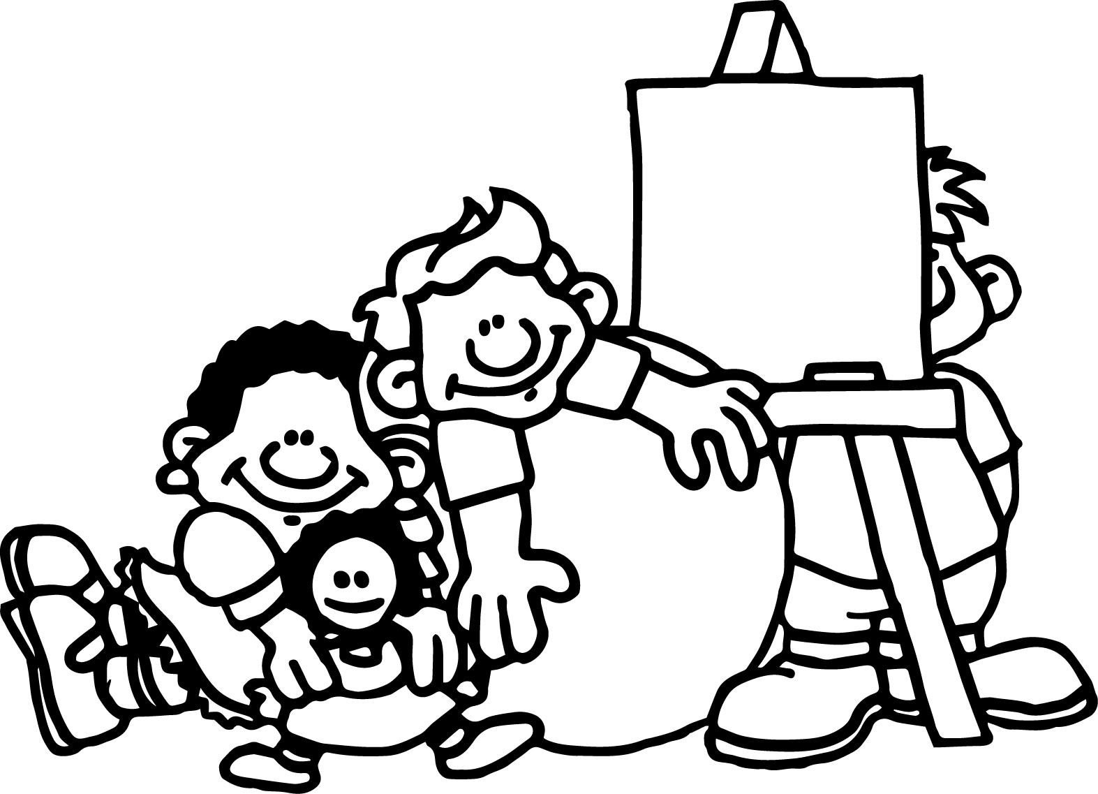 Preschool Coloring Page Sheet