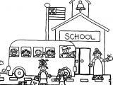 Preschool School Coloring Page
