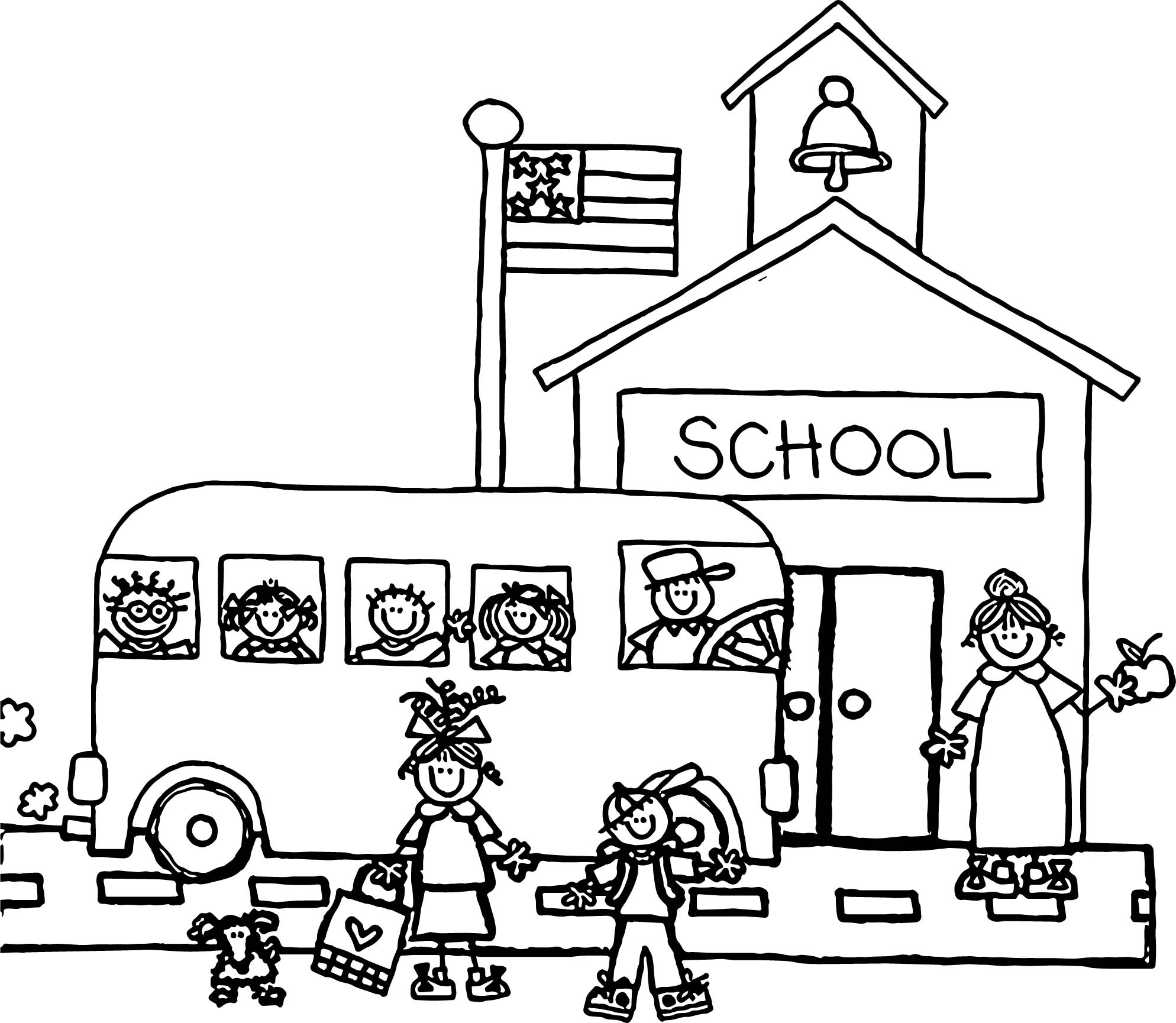 Preschool school coloring page for Coloring page for preschool